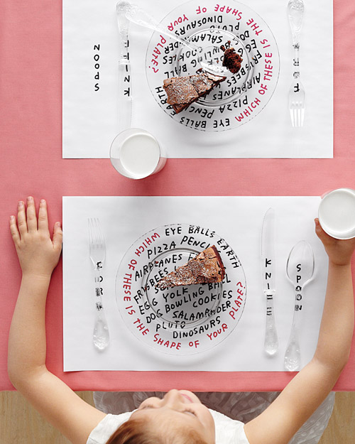 Children's Place Mat How-To