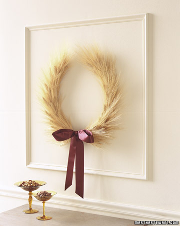 Wheat Wedding Wreath