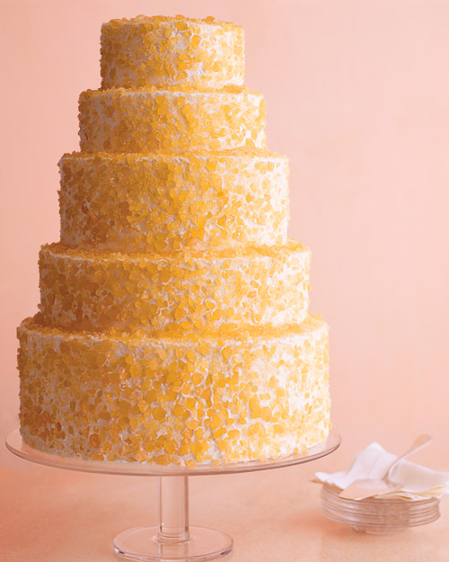 Crushed-Candy Wedding Cake