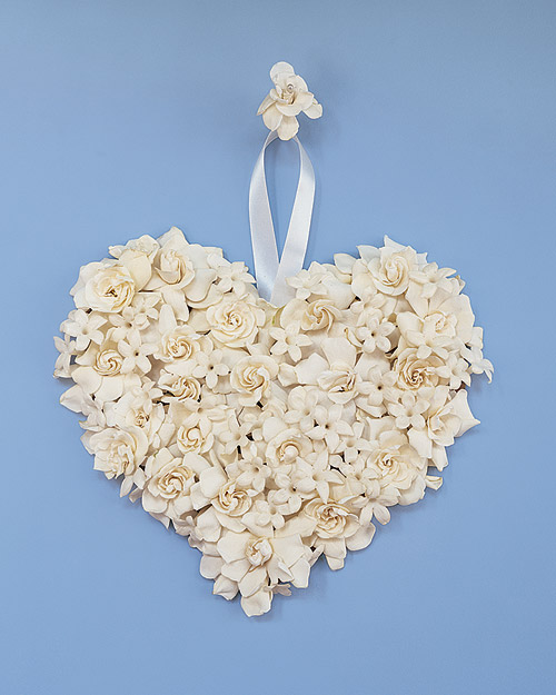Gardenia Heart Wedding Decoration