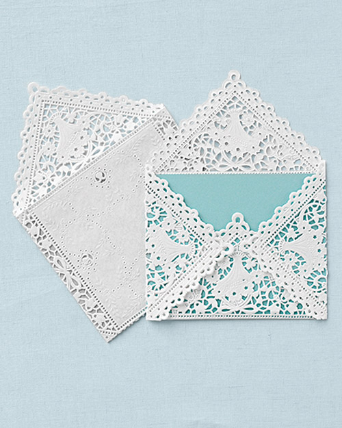 Doily Envelope for Wedding Invitations