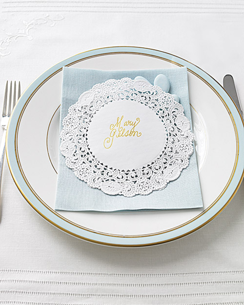 Doily Place Card