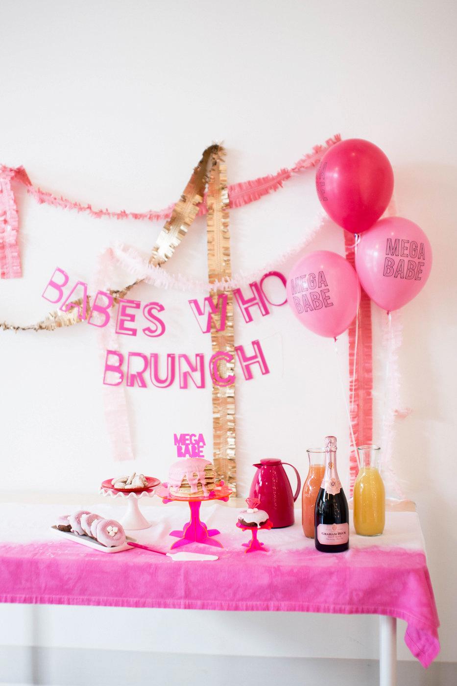 pink bridal shower backdrop
