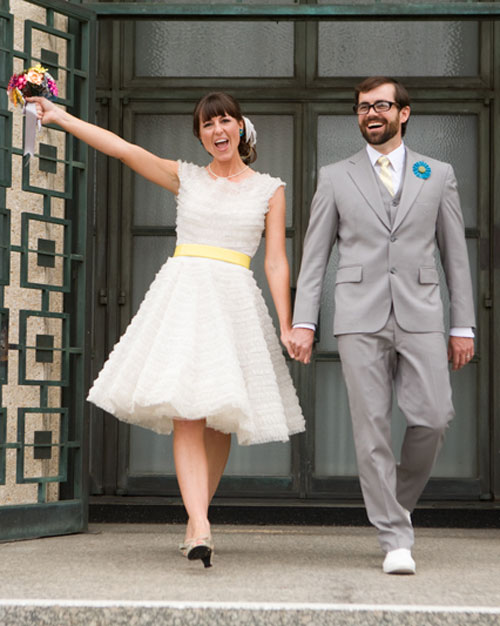 A Retro DIY Wedding Outdoors in California