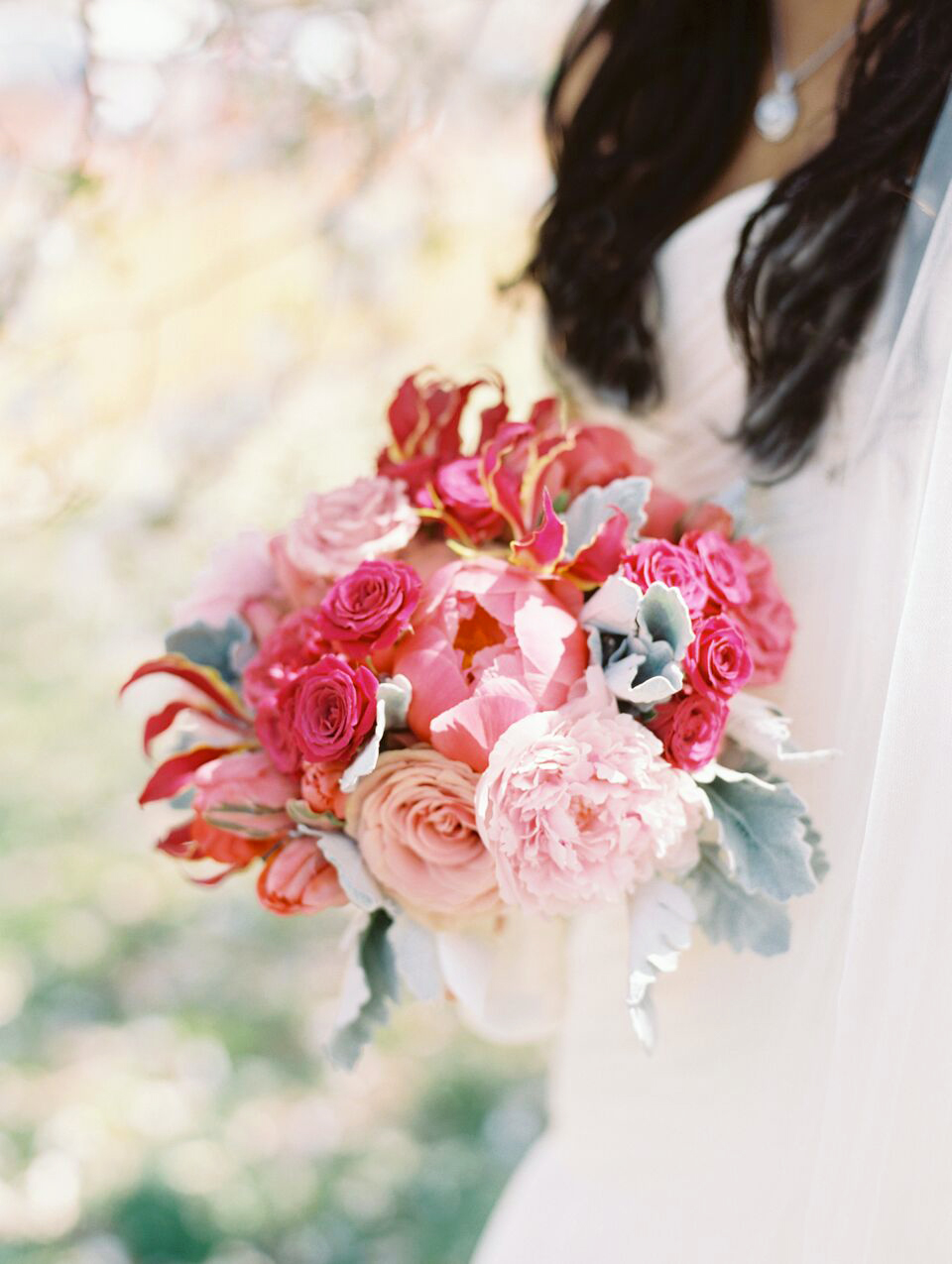 magenta wedding bouquet