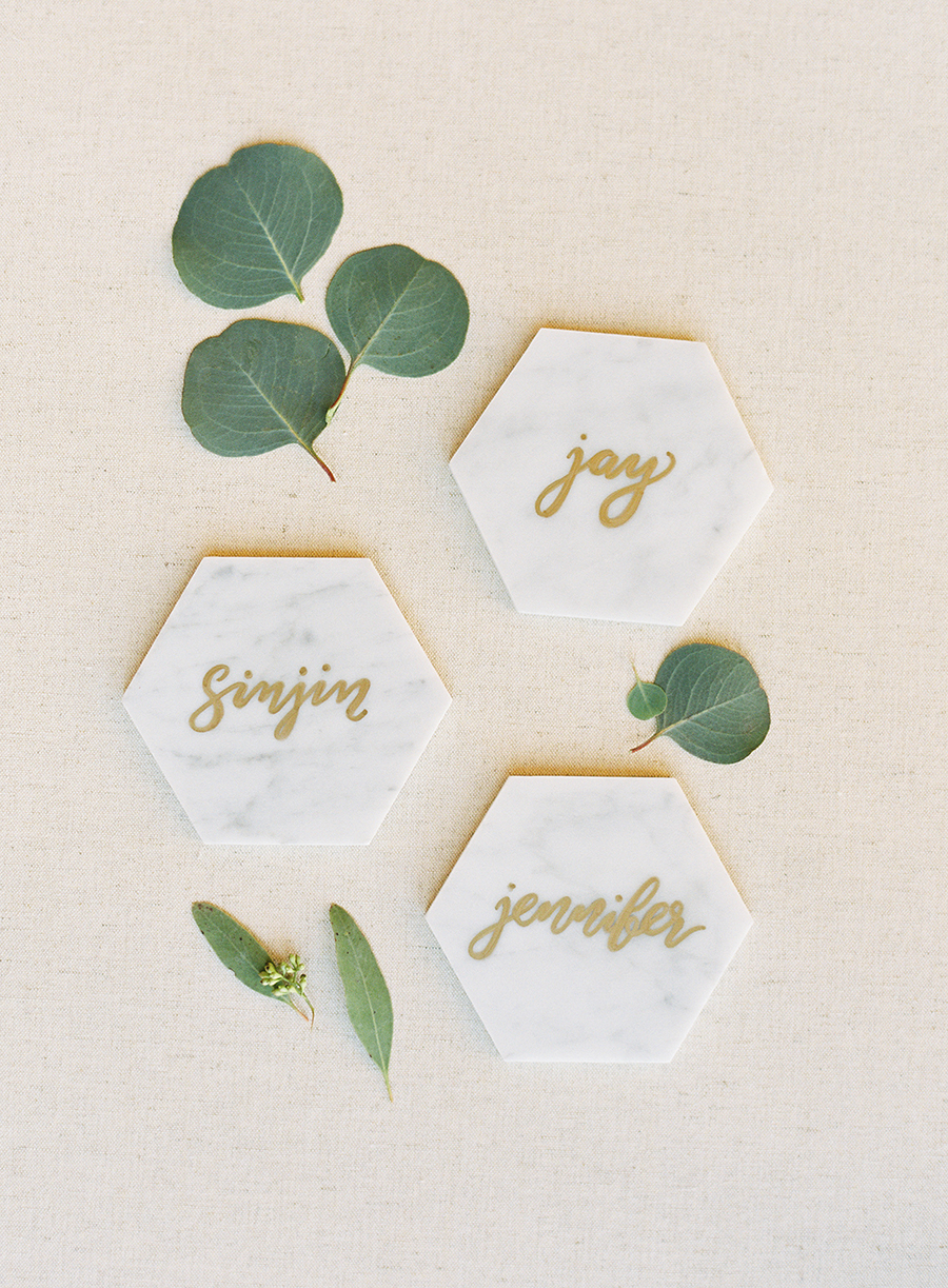 wedding place card tiles