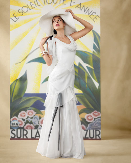 Wedding Dress Inspired by the Cote d'Azur