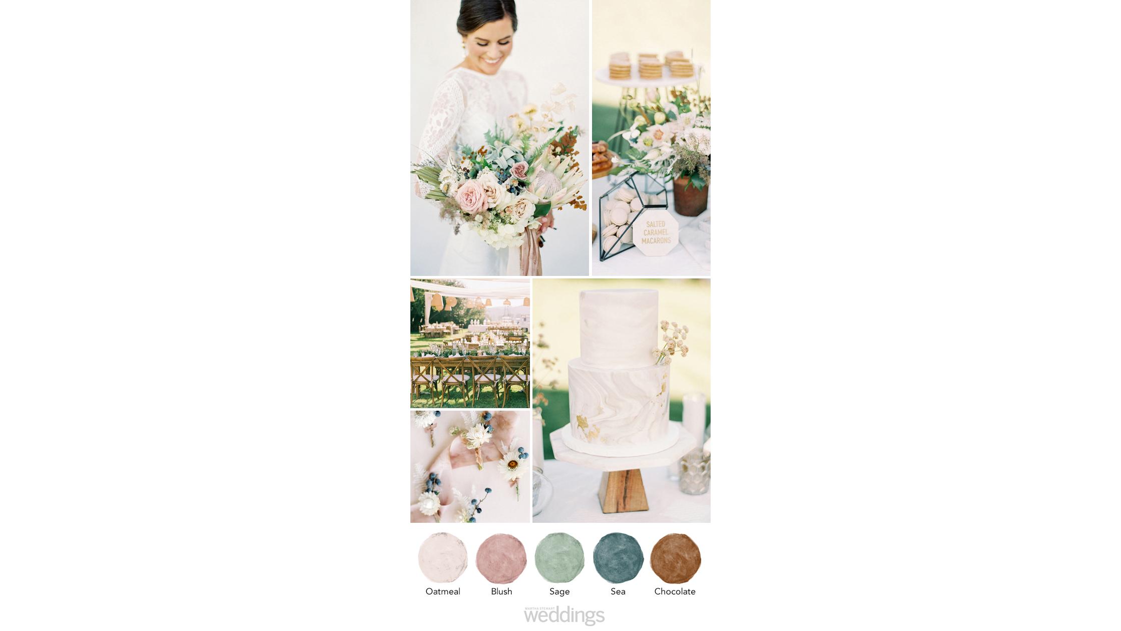 bohemian earthy wedding color palette ideas