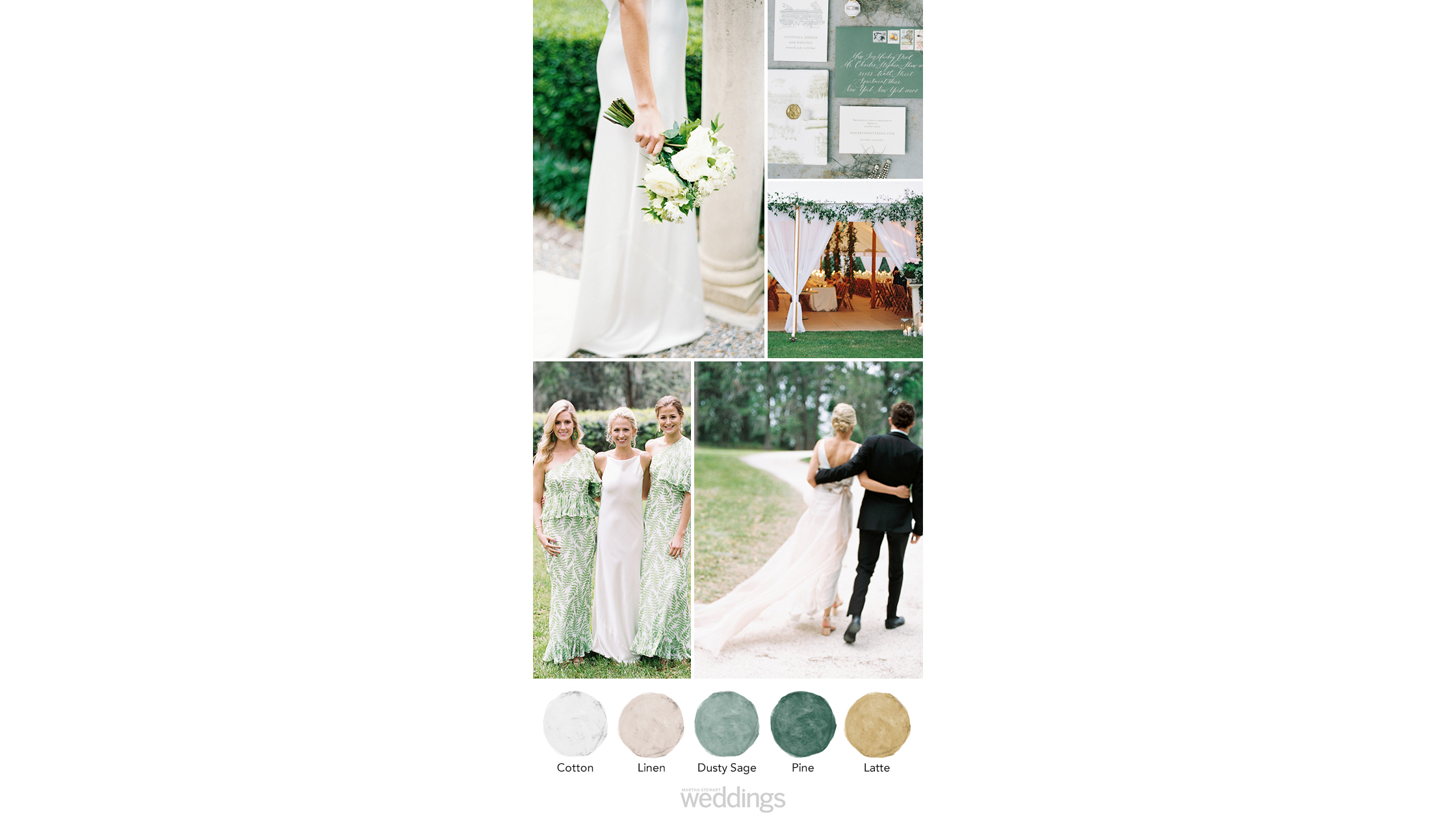 soft greens wedding color palette ideas