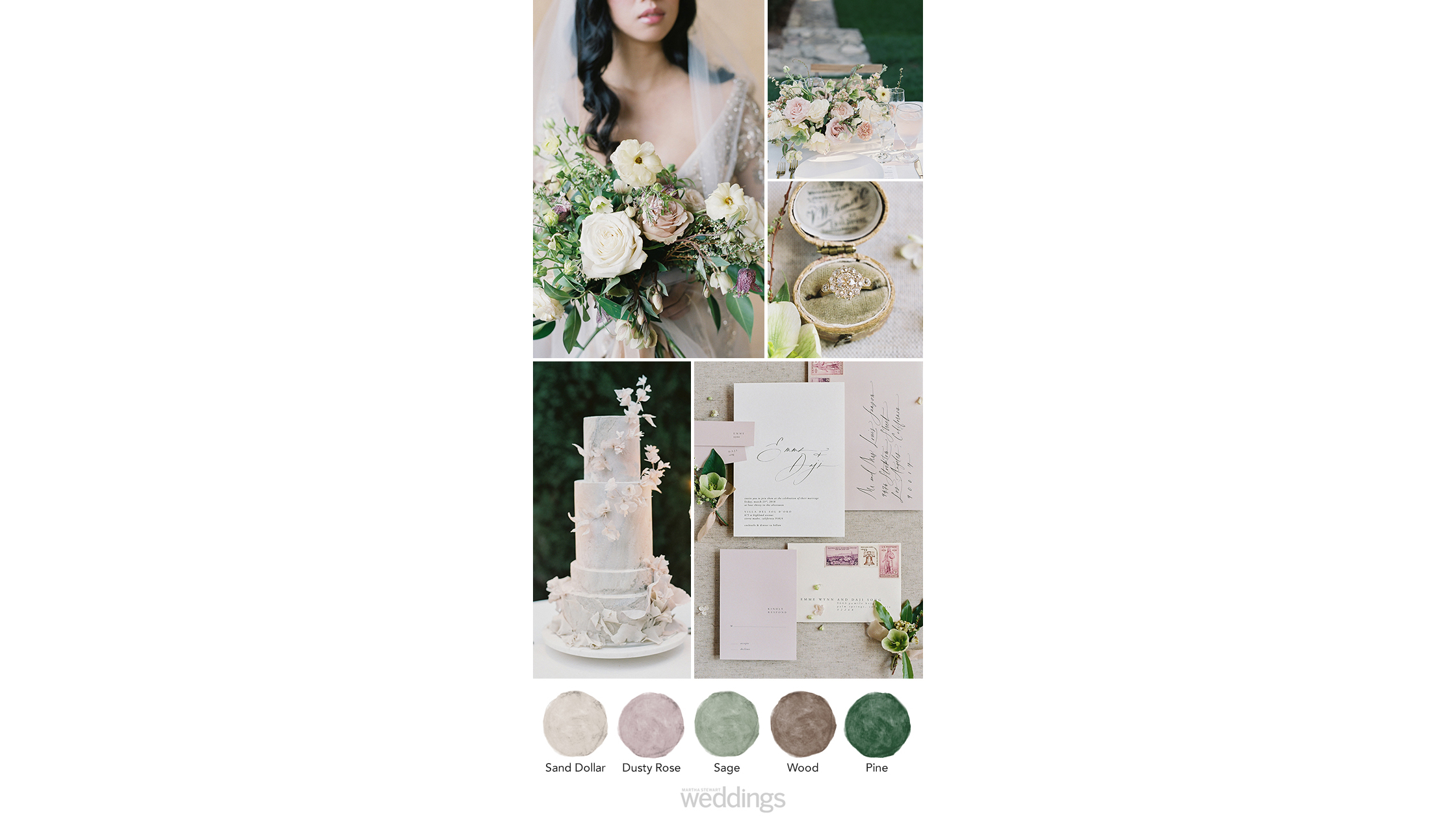 muted hues wedding color palette ideas