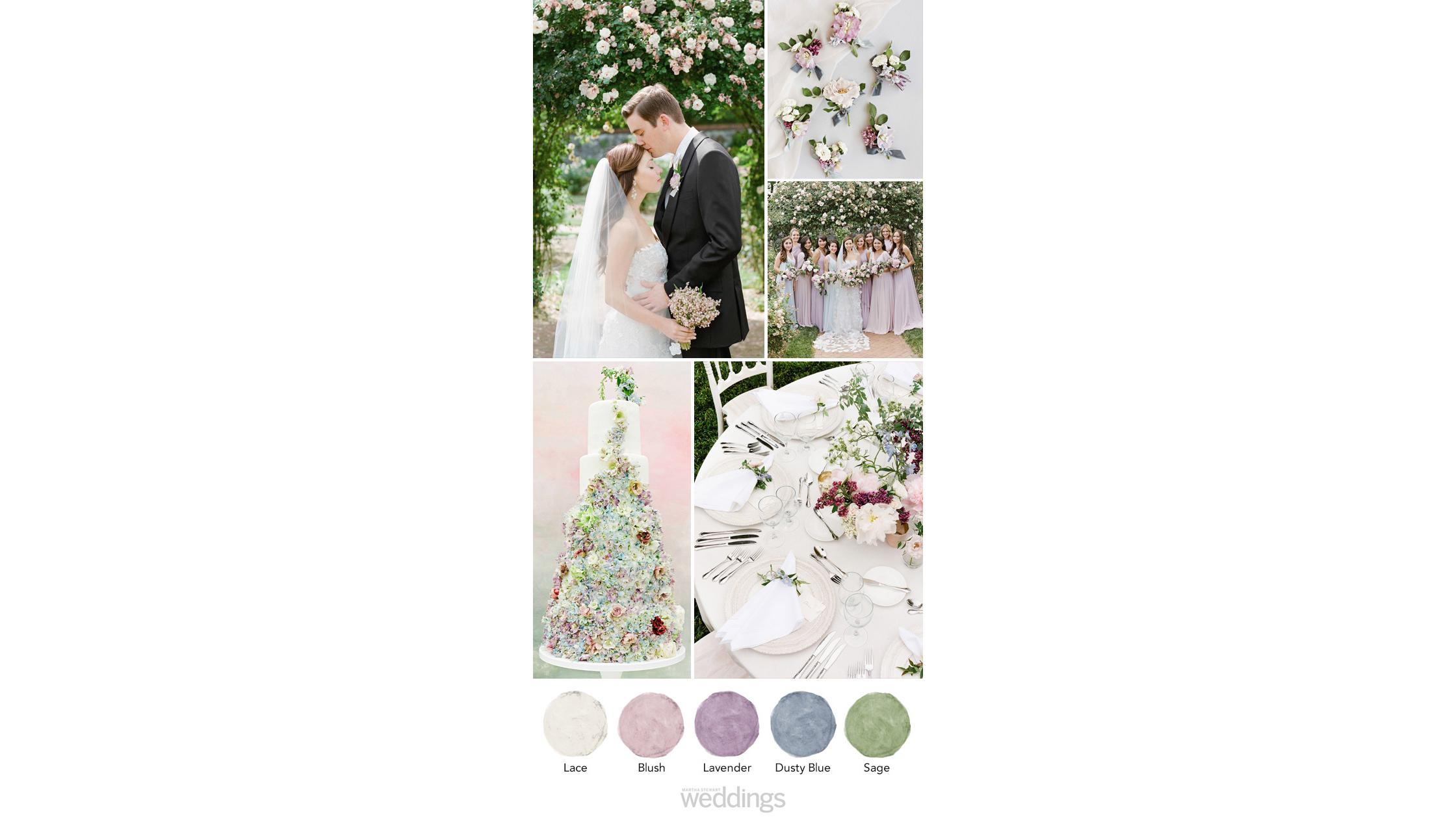 lavender wedding color palette ideas
