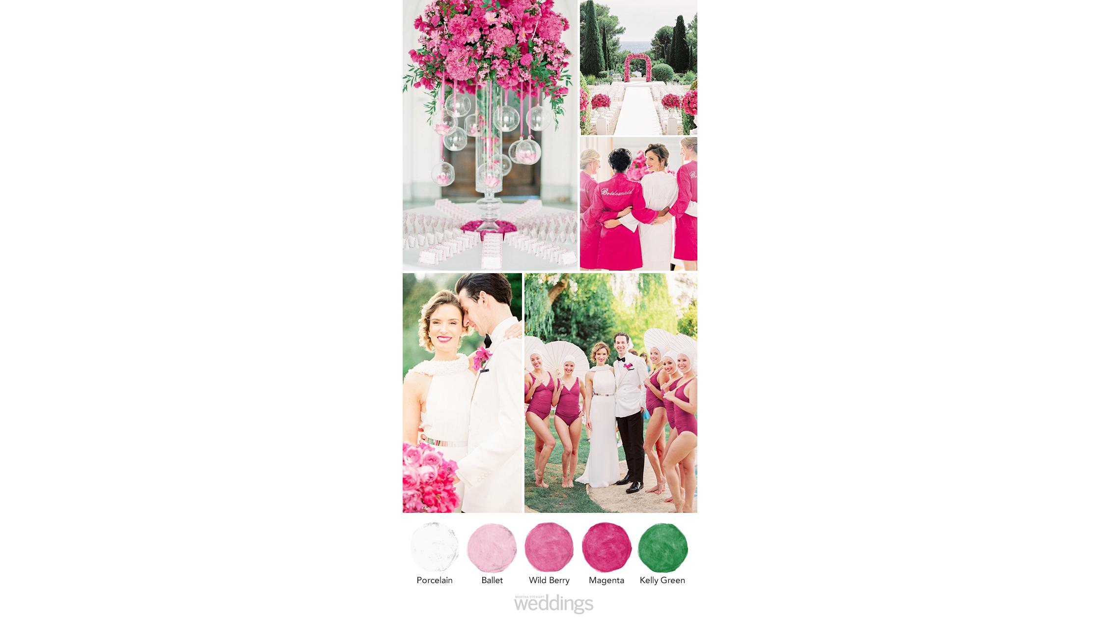 vibrant pink wedding color palette ideas