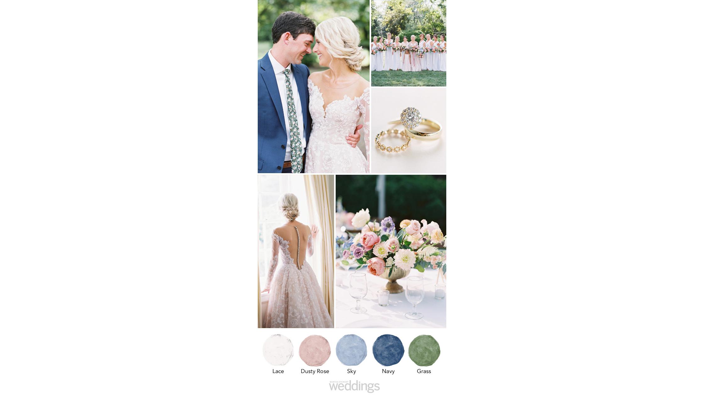 rose garden wedding color palette ideas