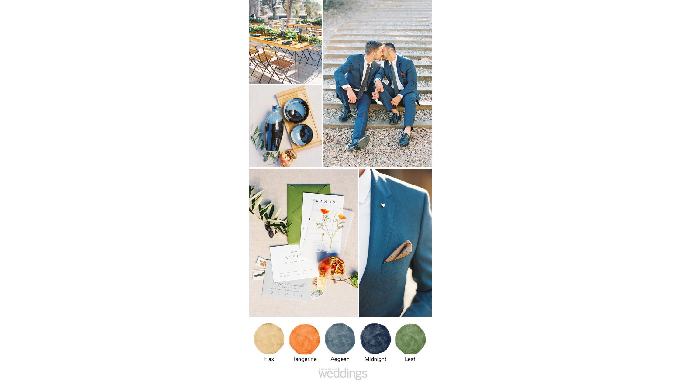navy orange wedding color palette ideas