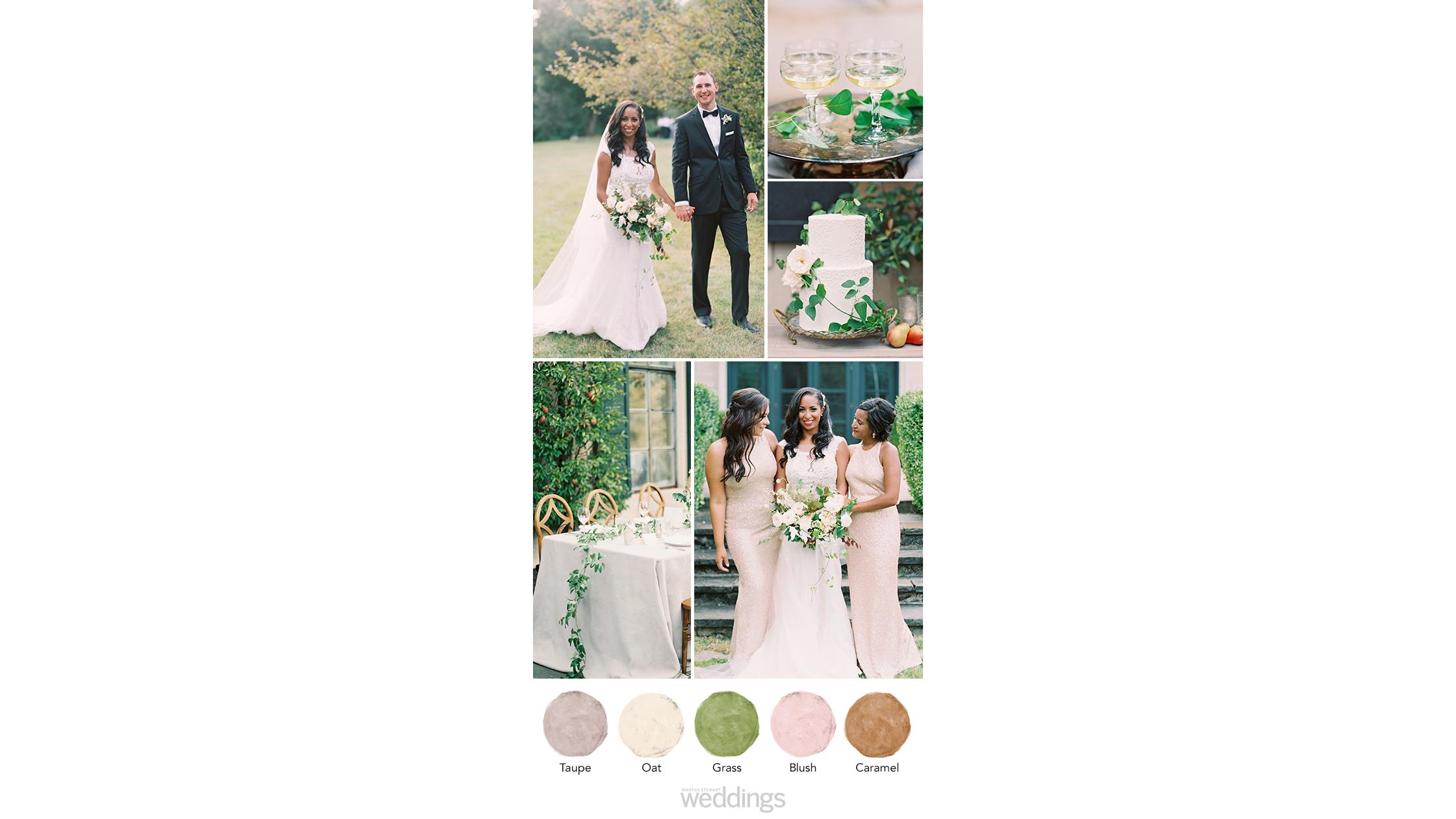stone ivy wedding color palette ideas