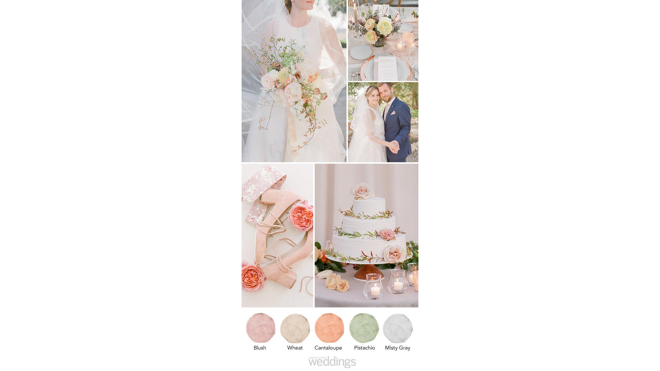 blush gray wheat wedding color palette ideas