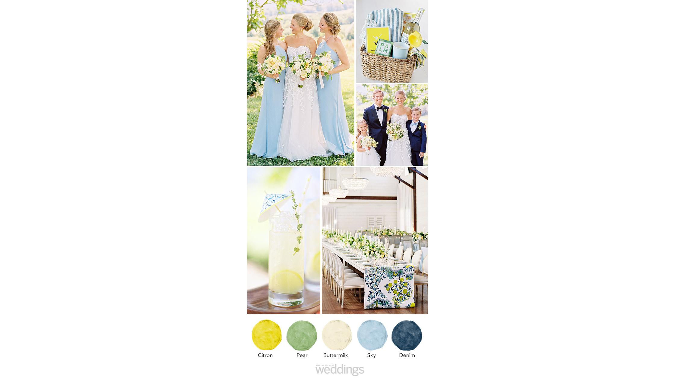 citrus wedding color palette ideas
