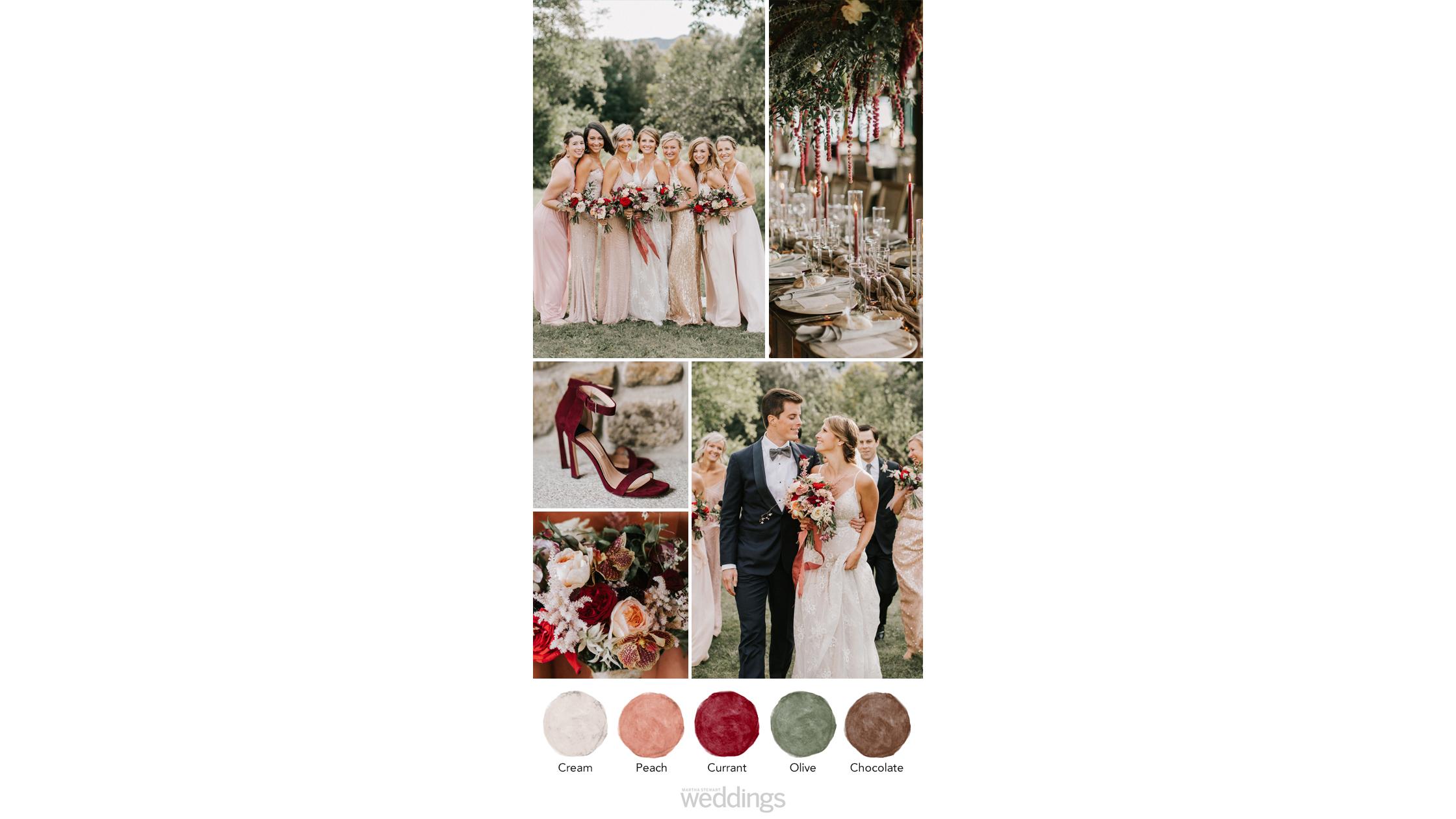 deep berry tones wedding color palette ideas