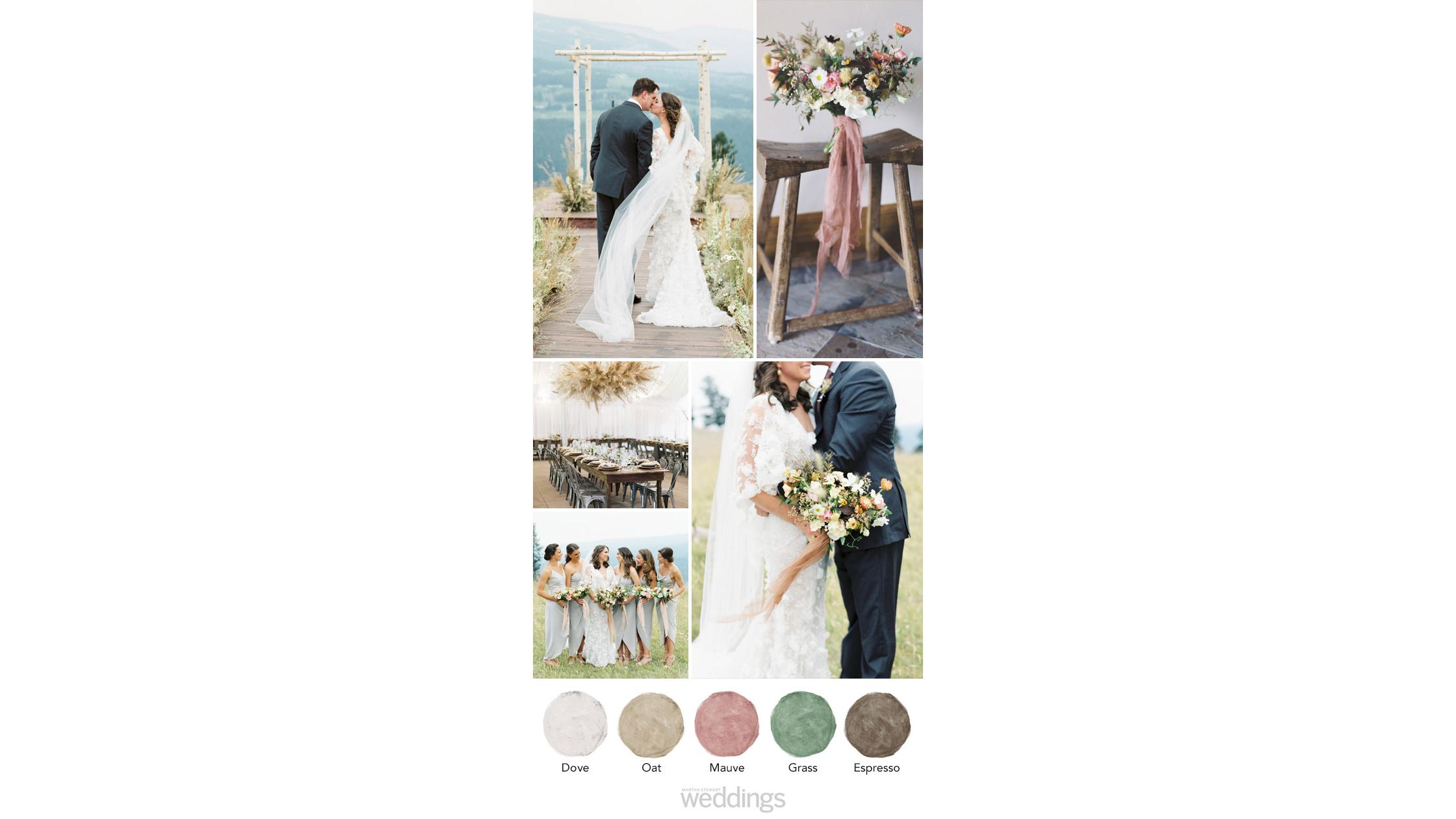 mountain mauve wedding color palette ideas