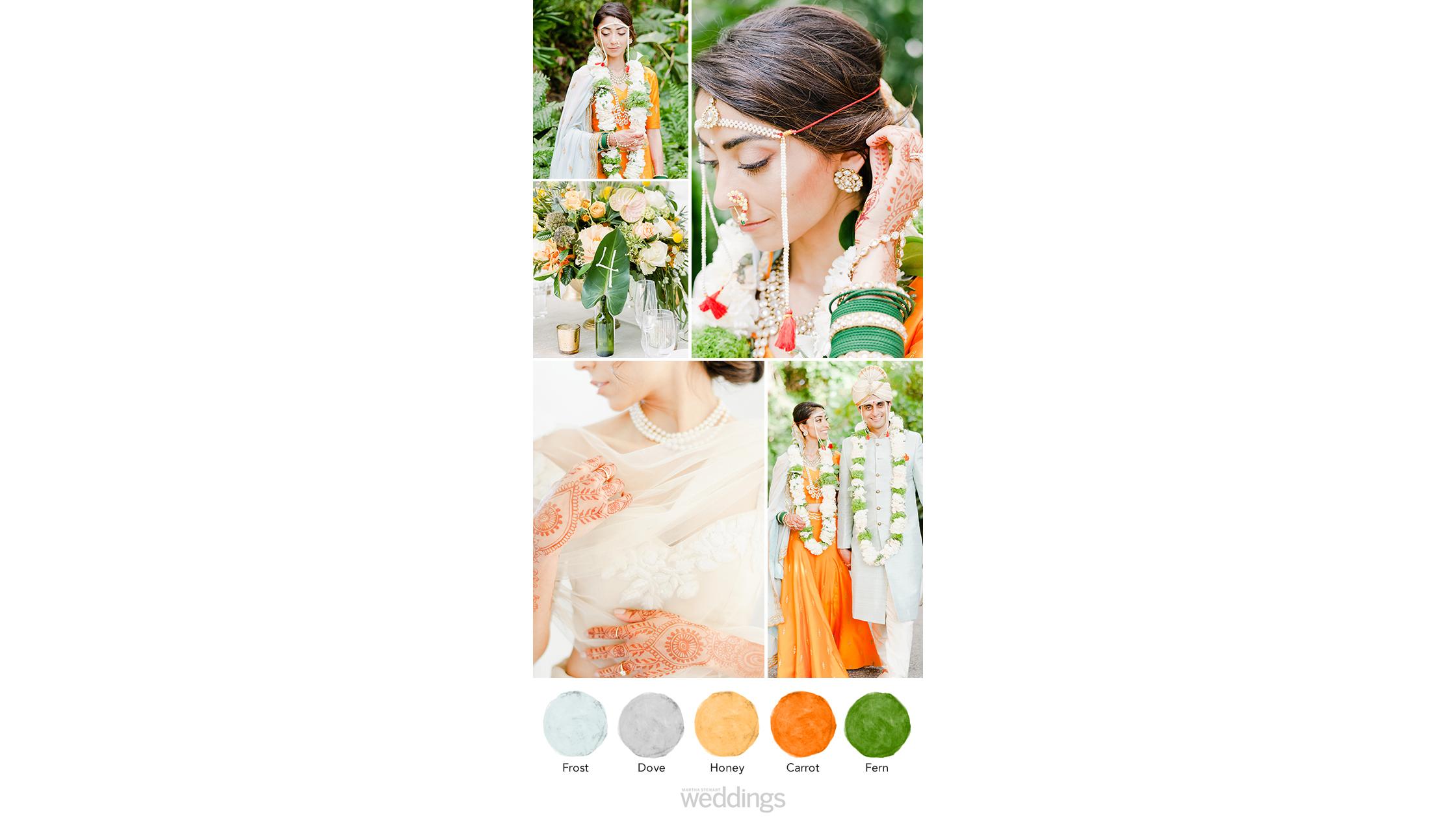 vibrant orange wedding color palette ideas