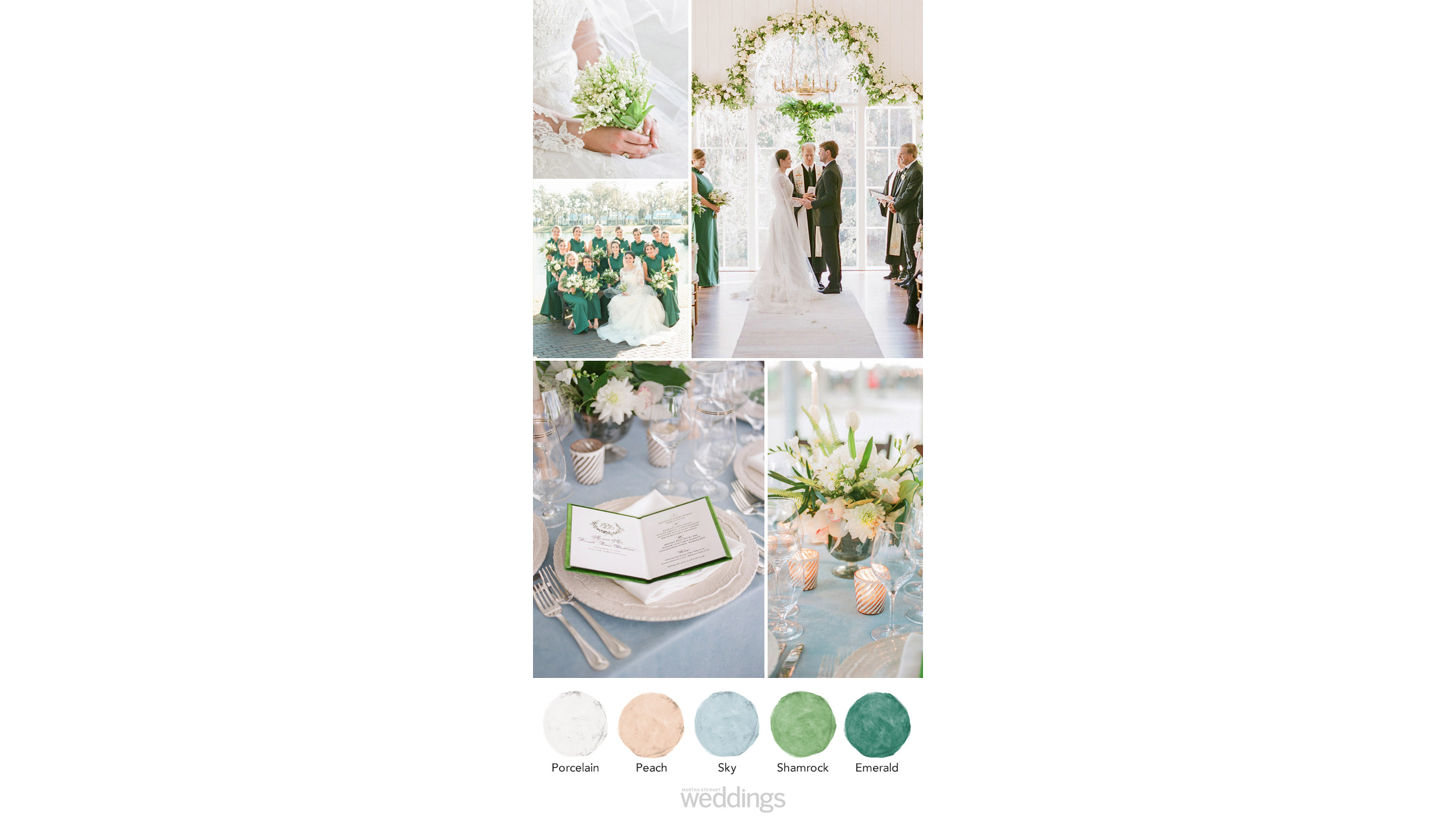 spring greens wedding color palette ideas