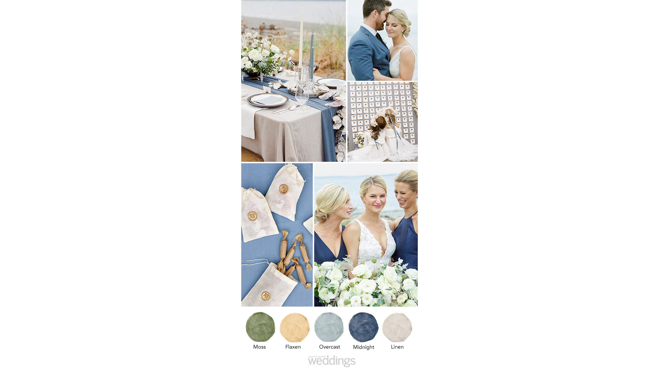 lake blue wedding color palette ideas