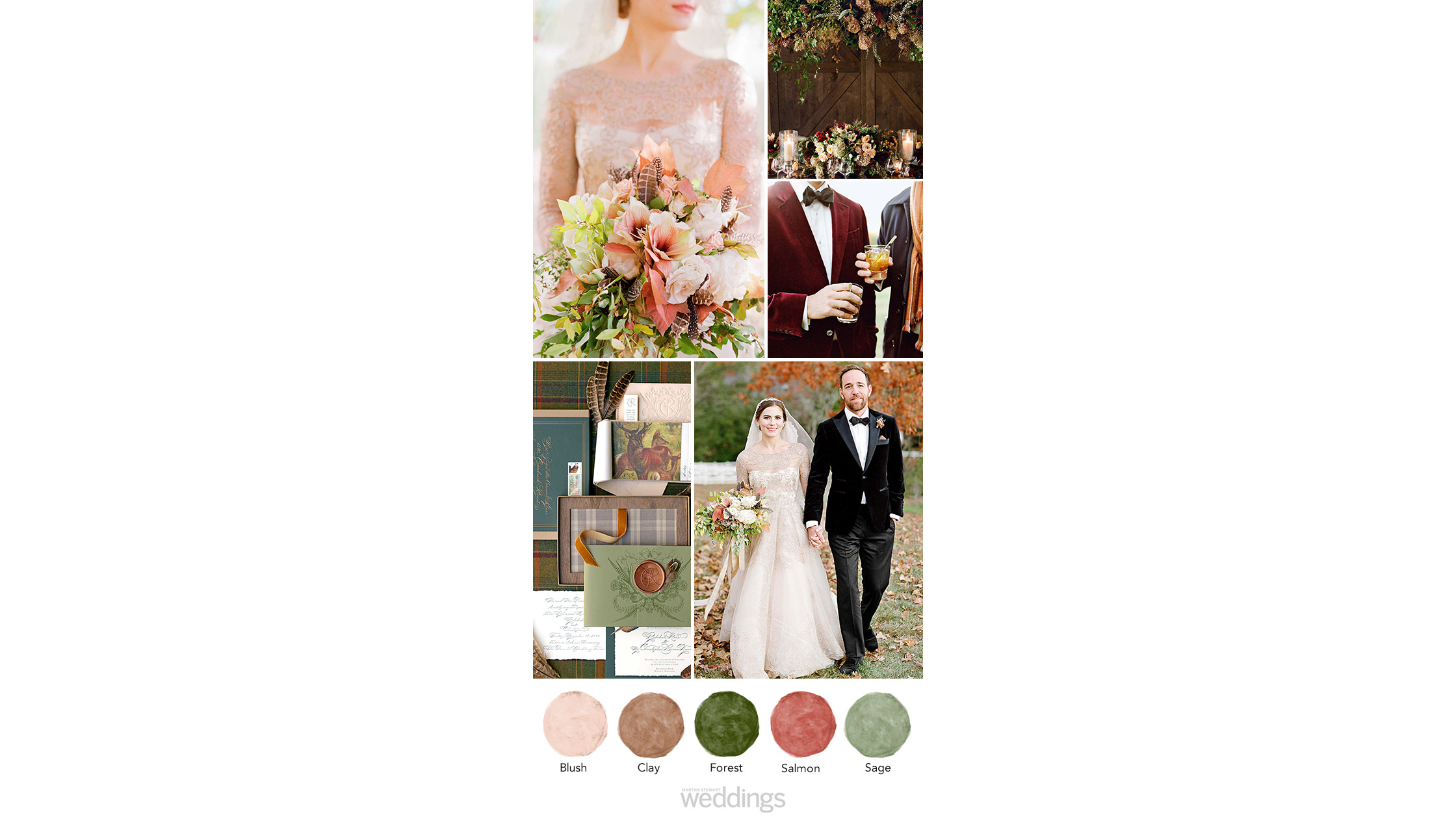 fall inspired wedding color palette ideas