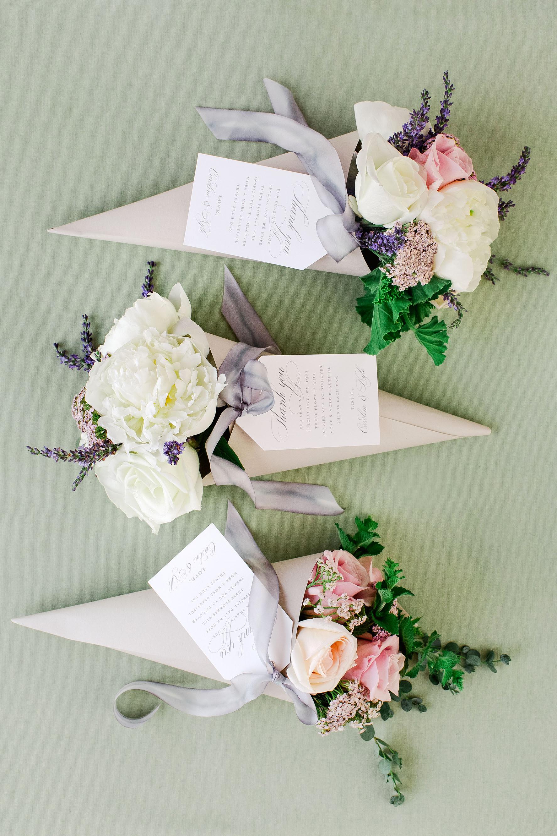 paper cones flowers