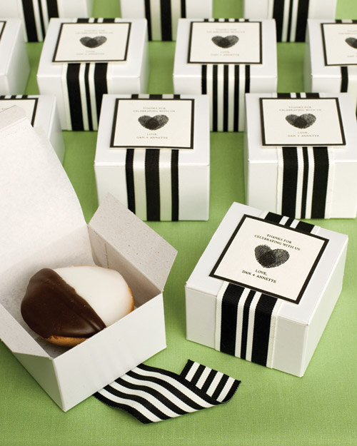 Black and White Cookie Favors