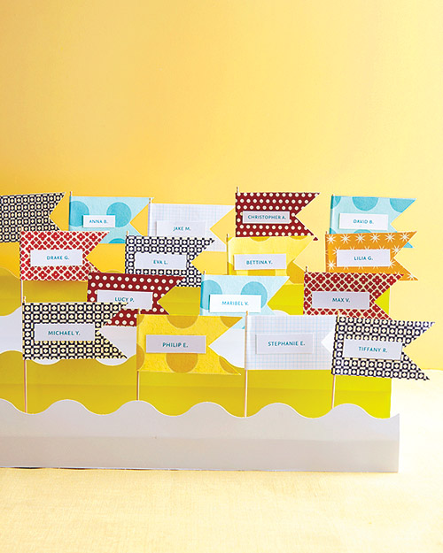 Paper Flag Escort Cards How-To