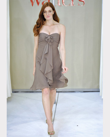 Taupe Strapless Short Dress