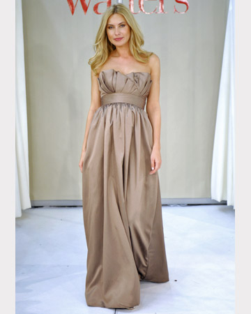 Taupe Strapless Gown