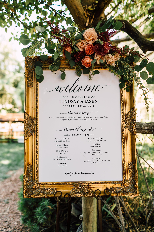Ceremony Programs Vintage Frame