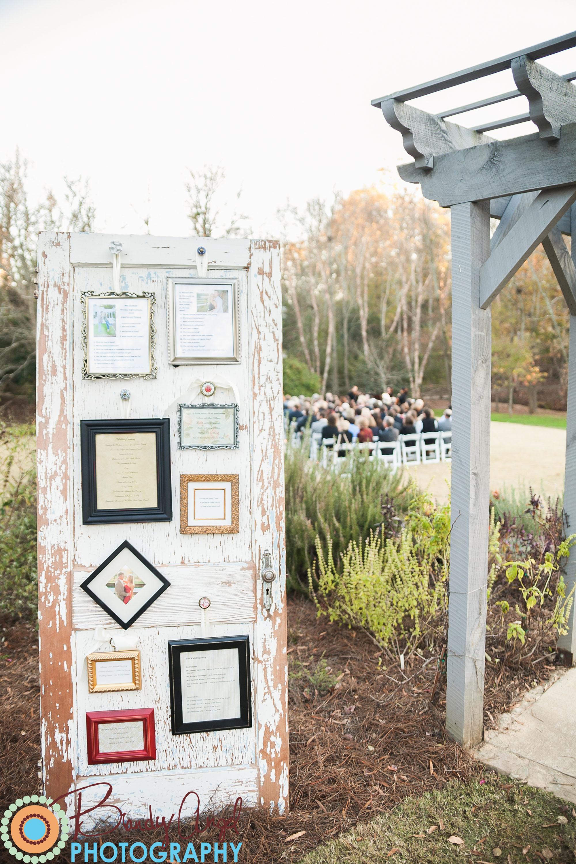 Ceremony Programs Door Frame