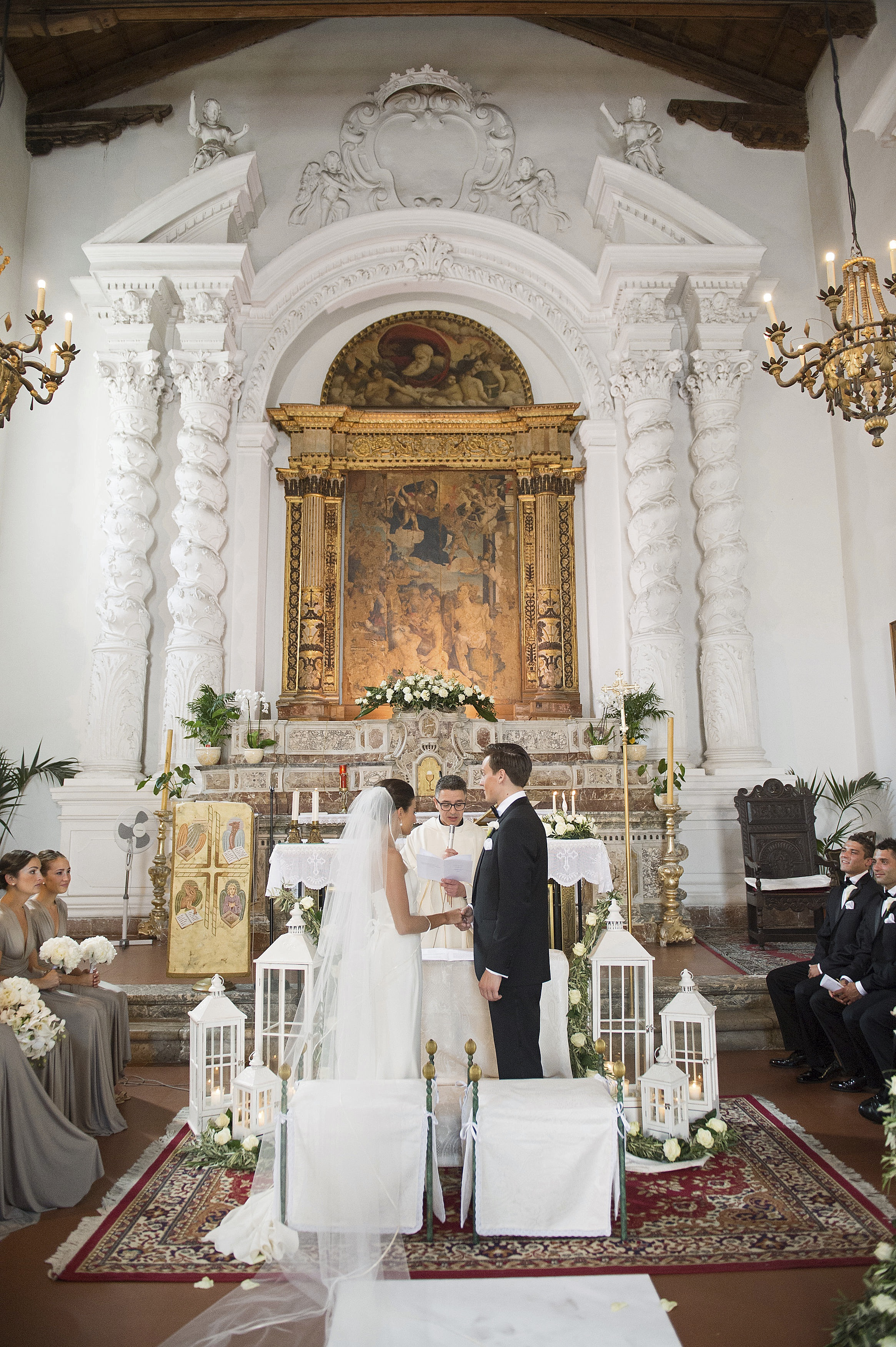 Bride groom church altar