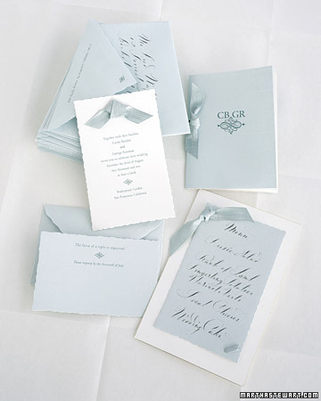 Beribboned Invitations