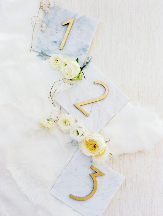 wedding table numbers marble marvels