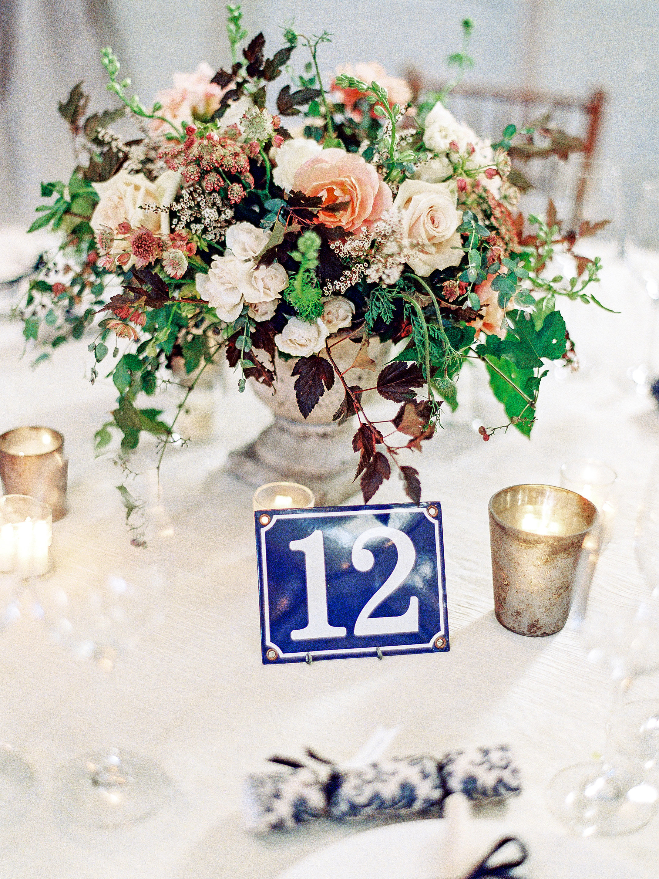 julianne aaron wedding table number centerpiece