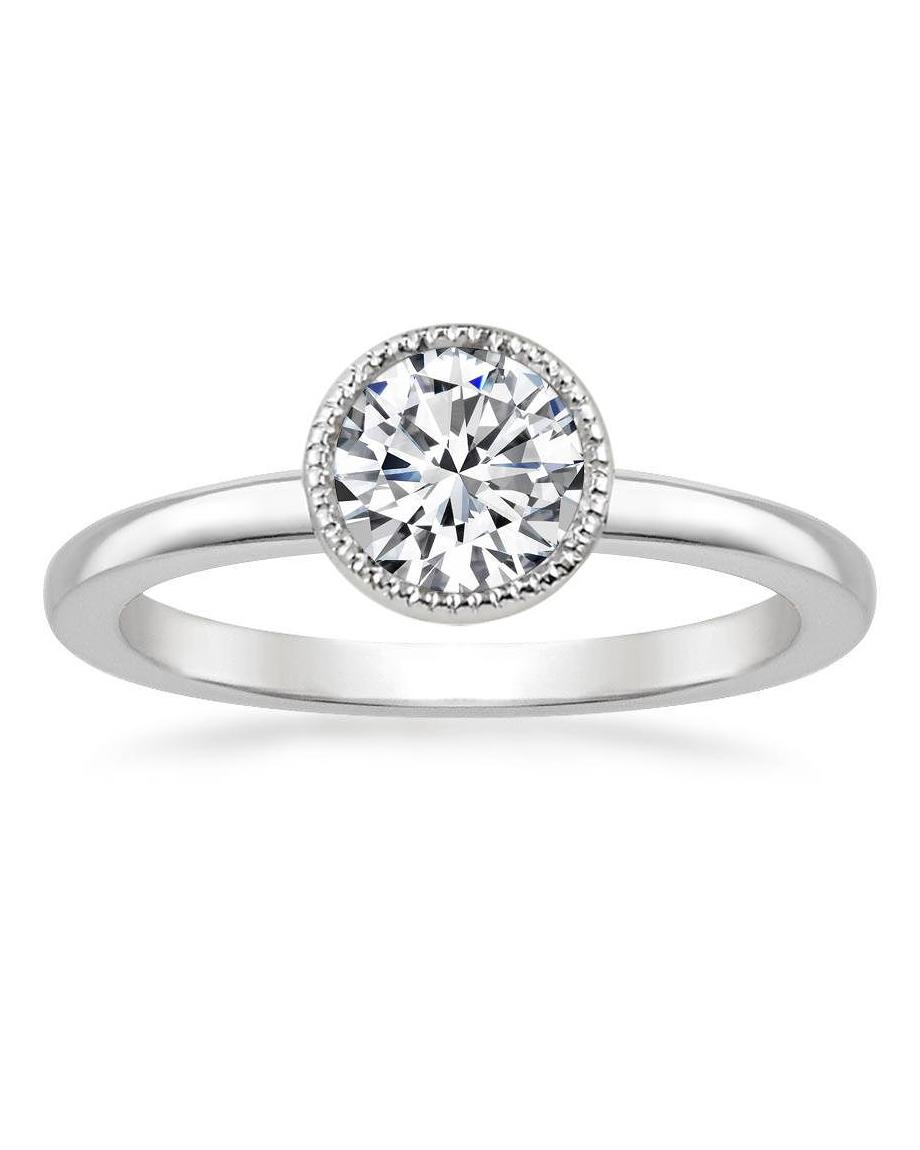engagement ring settings bezel diamonds jewelry