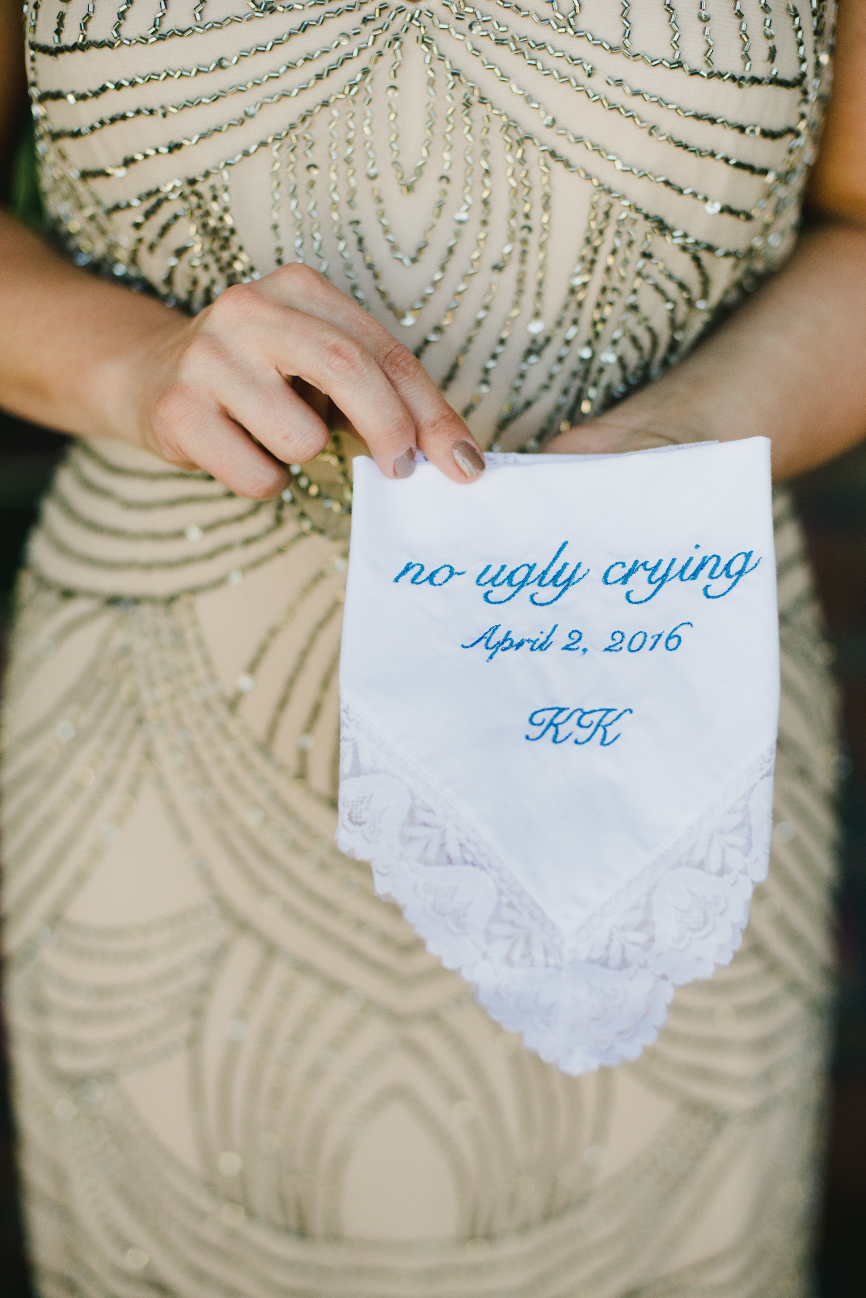 eyelet lace trimmed handkerchief