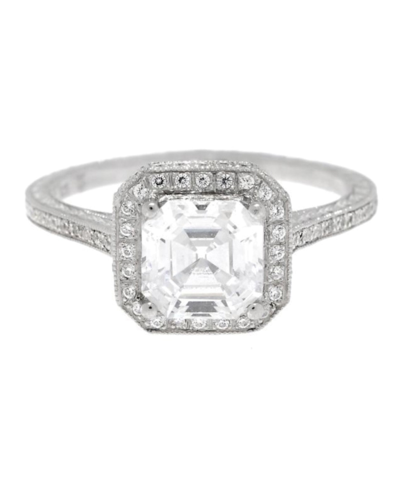Asscher Cut Diamond Engagement Rings