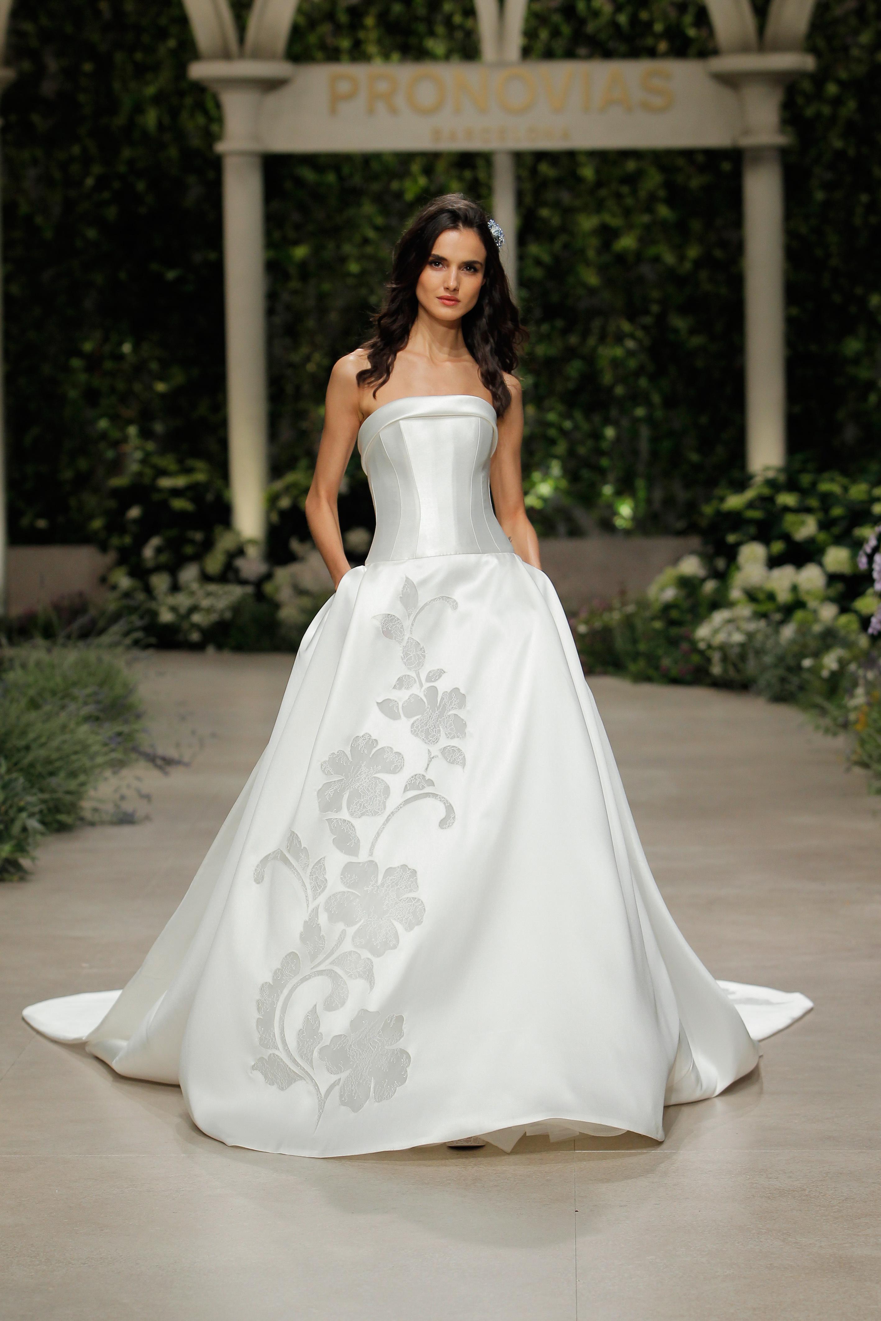 pronovias wedding dress spring 2019 ballgown sleeveless