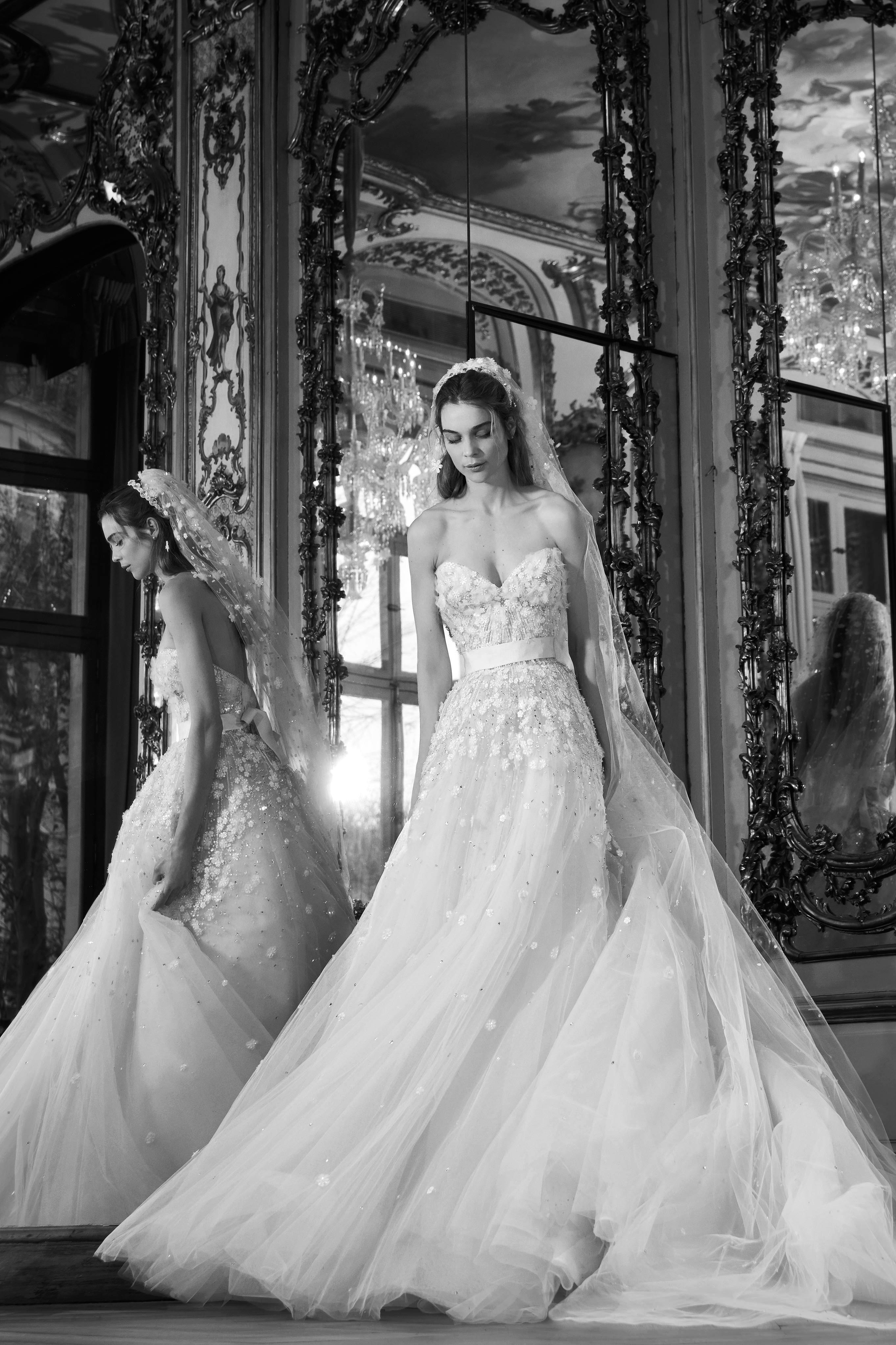 elie saab wedding dress spring 2019 strapless tulle a-line
