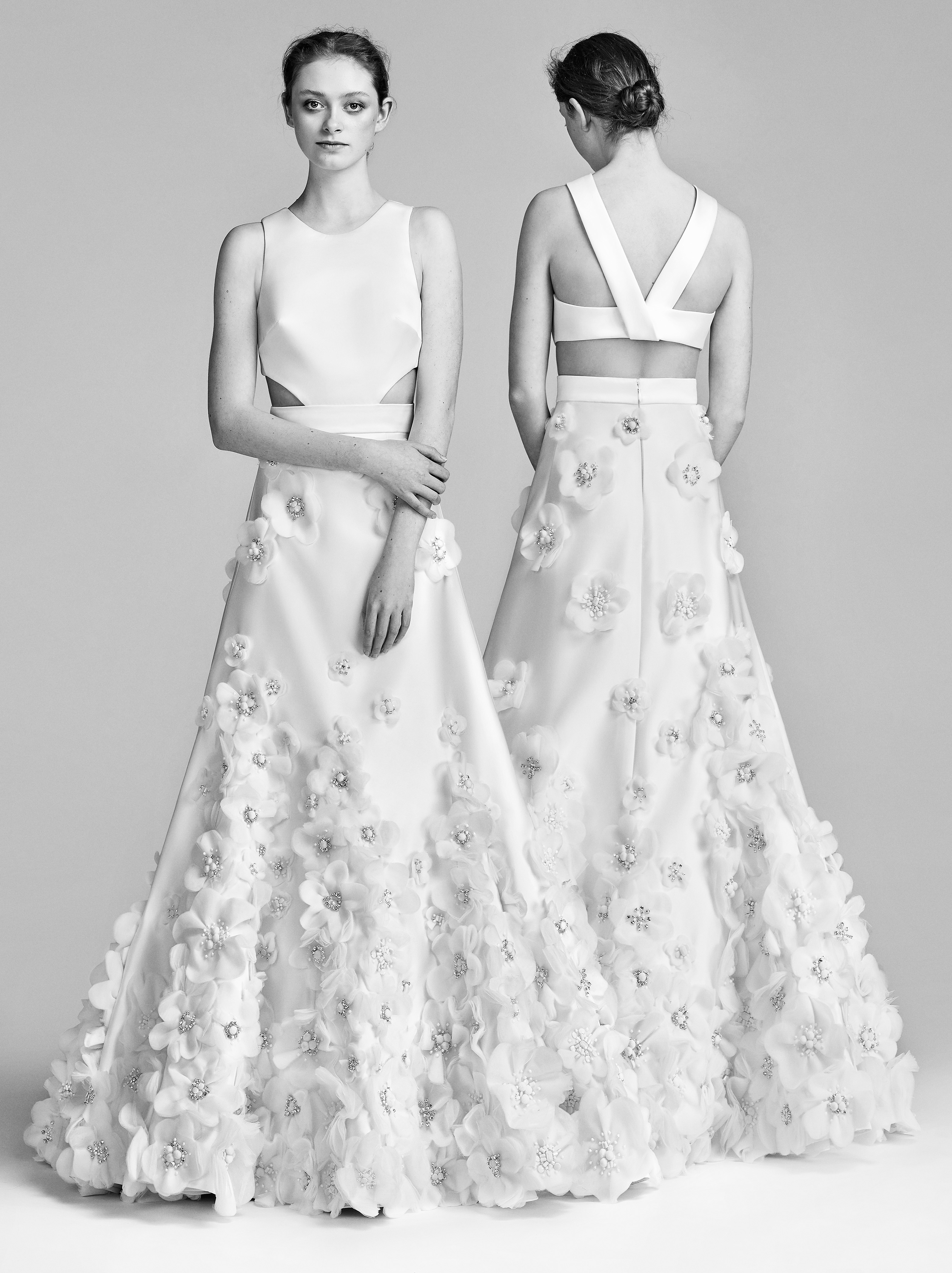 Viktor&Rolf A-Line Wedding Dress with High Neck Spring 2018