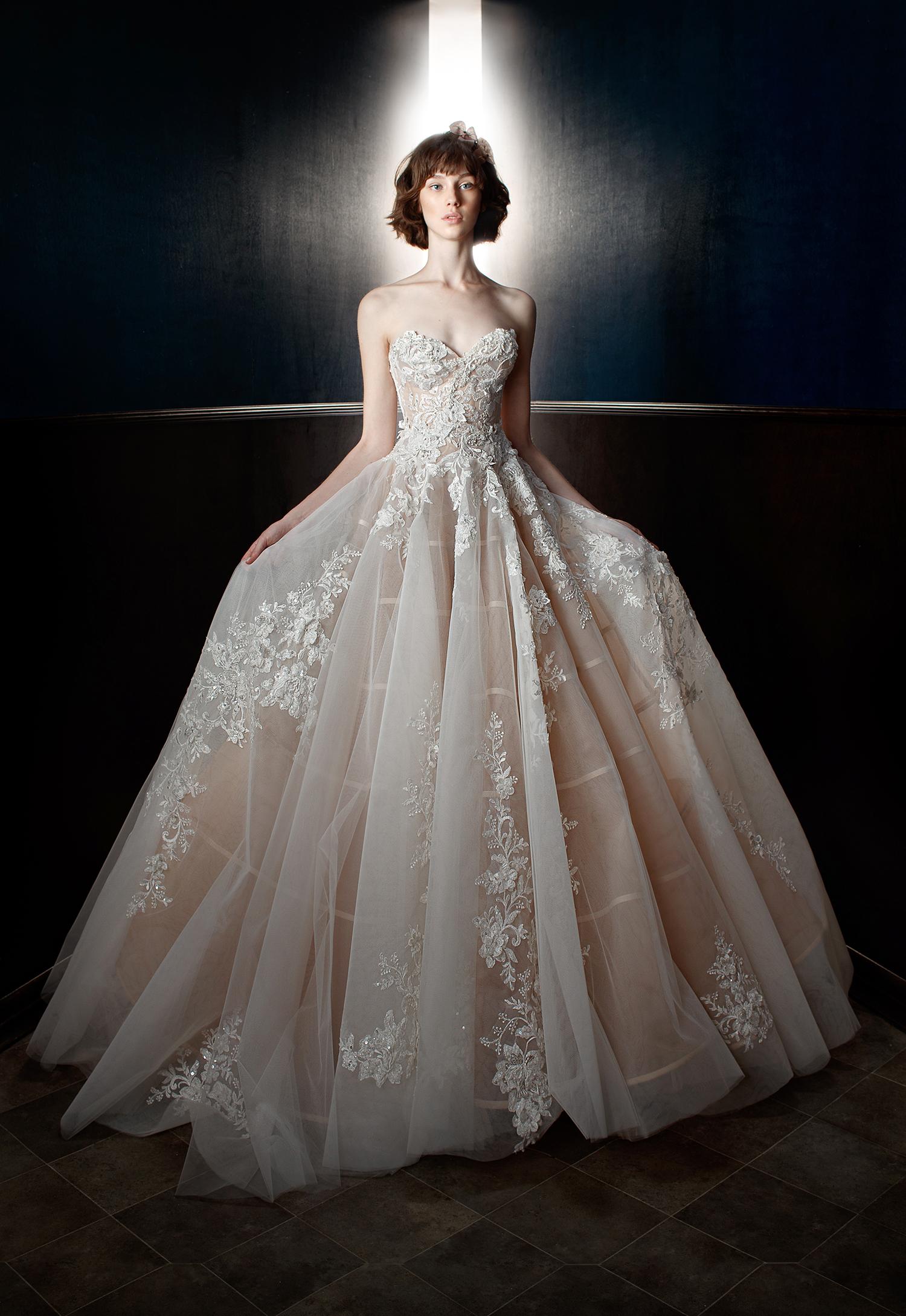 galia lahav wedding dress spring 2018 floral embroidered ballgown