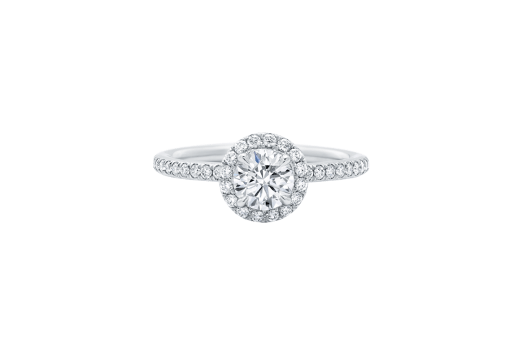 "Harry Winston ""The One"" Round Brilliant Diamond Micropavé Engagement Ring"
