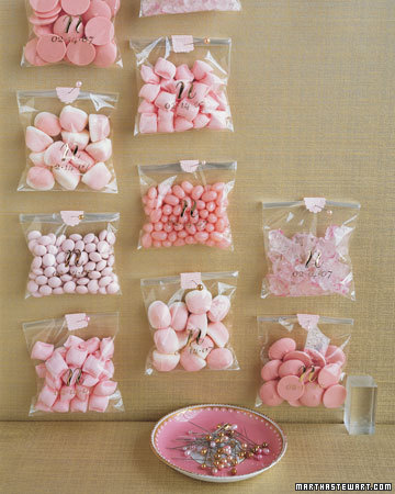 Pink Wedding Favors