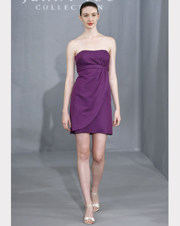 Purple Strapless Short Dress