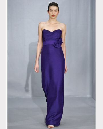 Purple Strapless Long Dress
