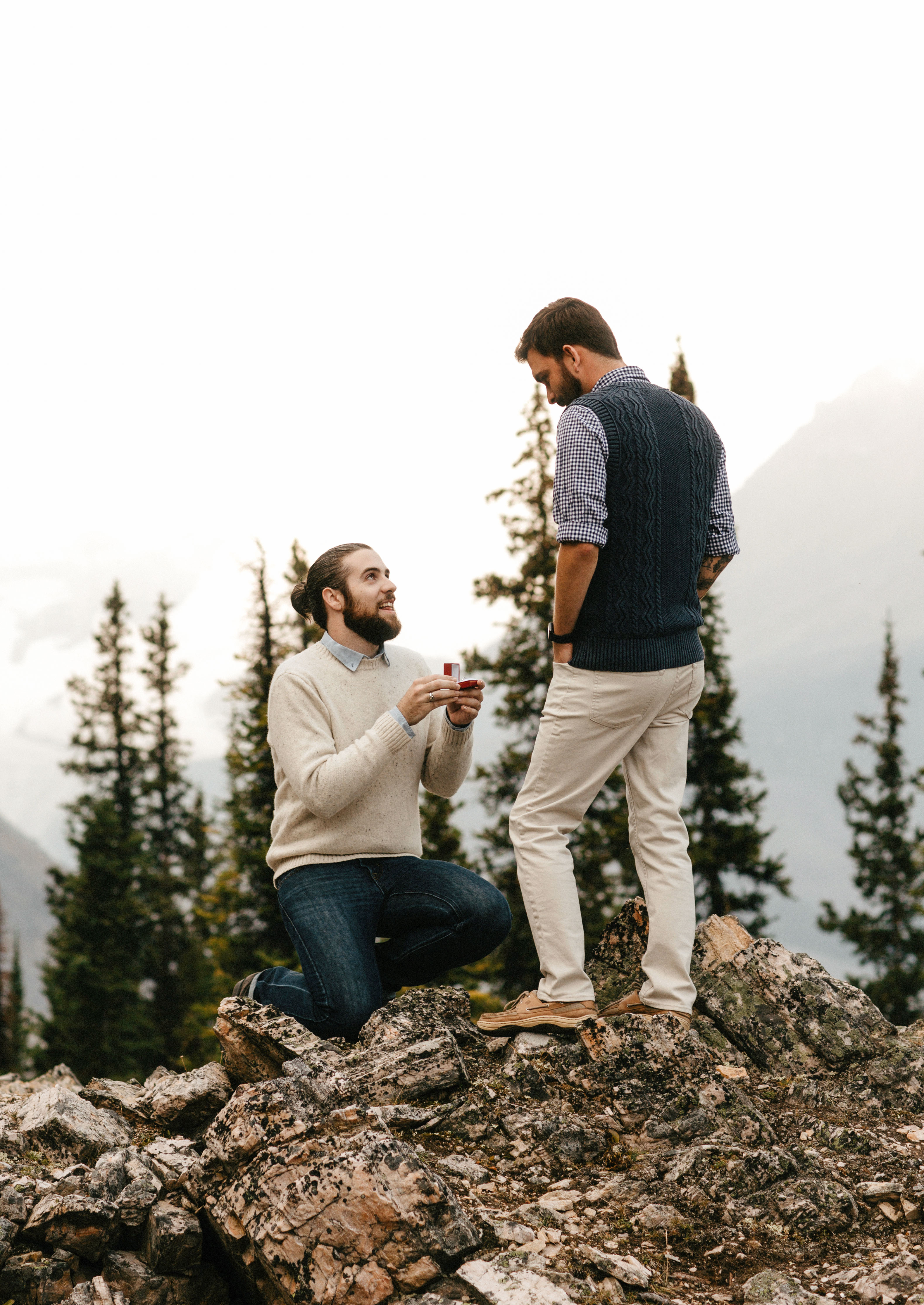 perfect proposals scenic landscape wooded area